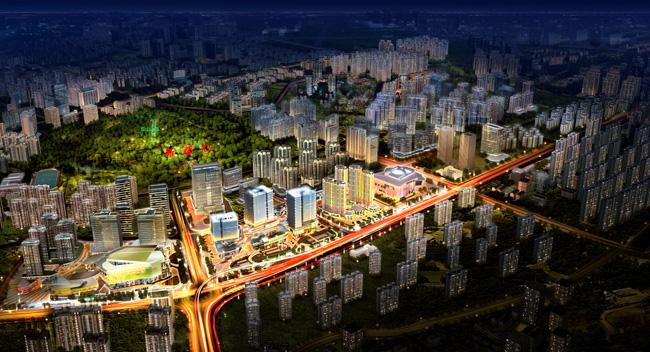 项目位于政府重点规划片区---新都心区域,地处青岛主城区的几何中心